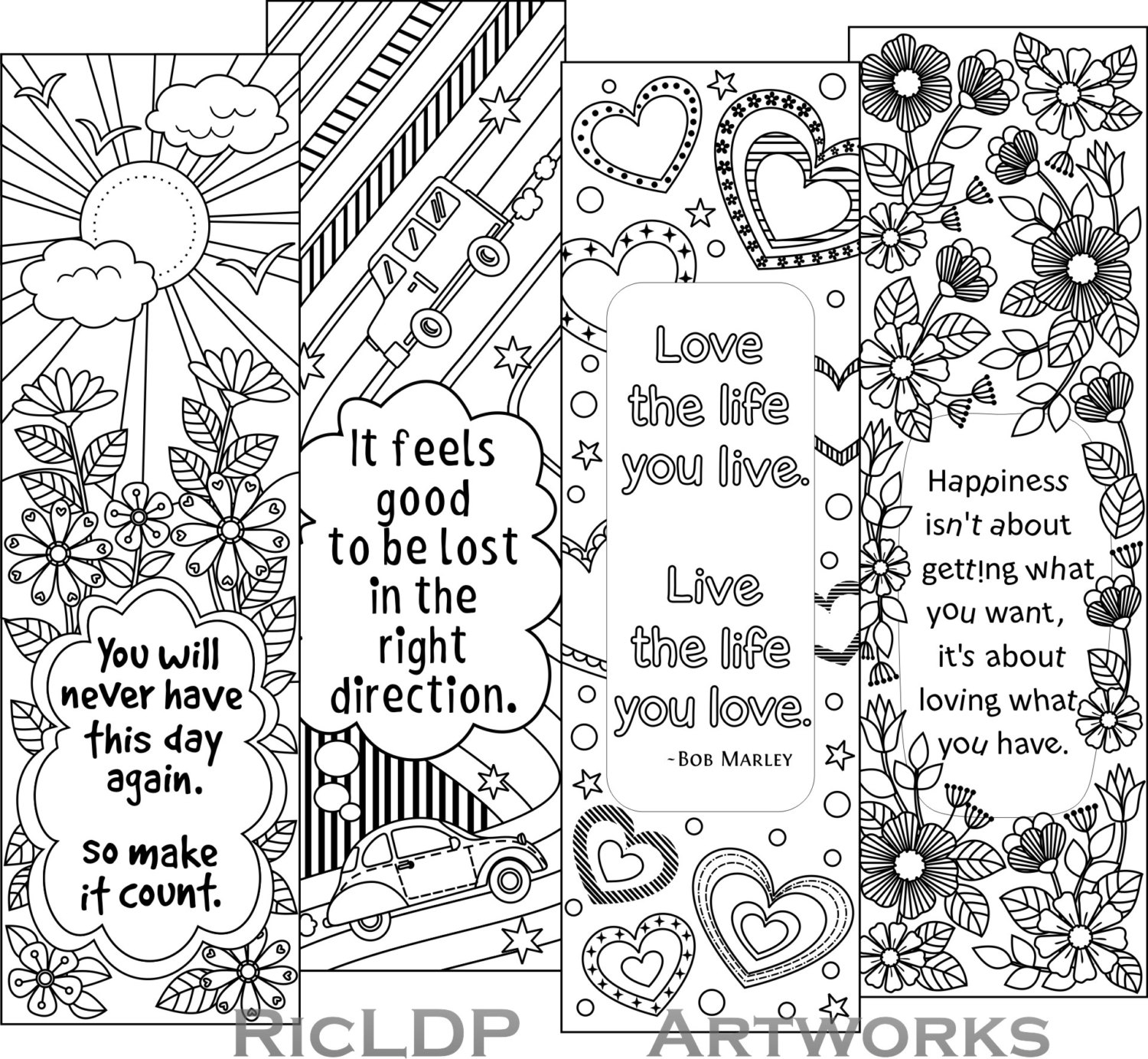 23 Bookmark Coloring Pages Compilation Free Coloring Pages Part 3