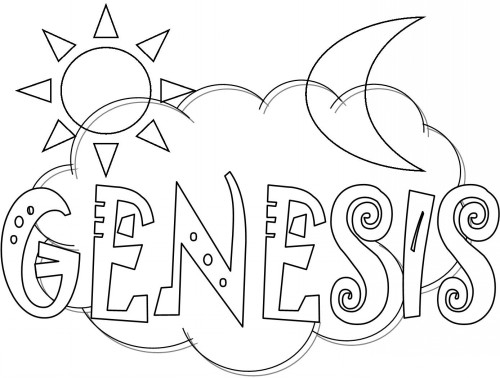 books of the bible coloring pages - genesis