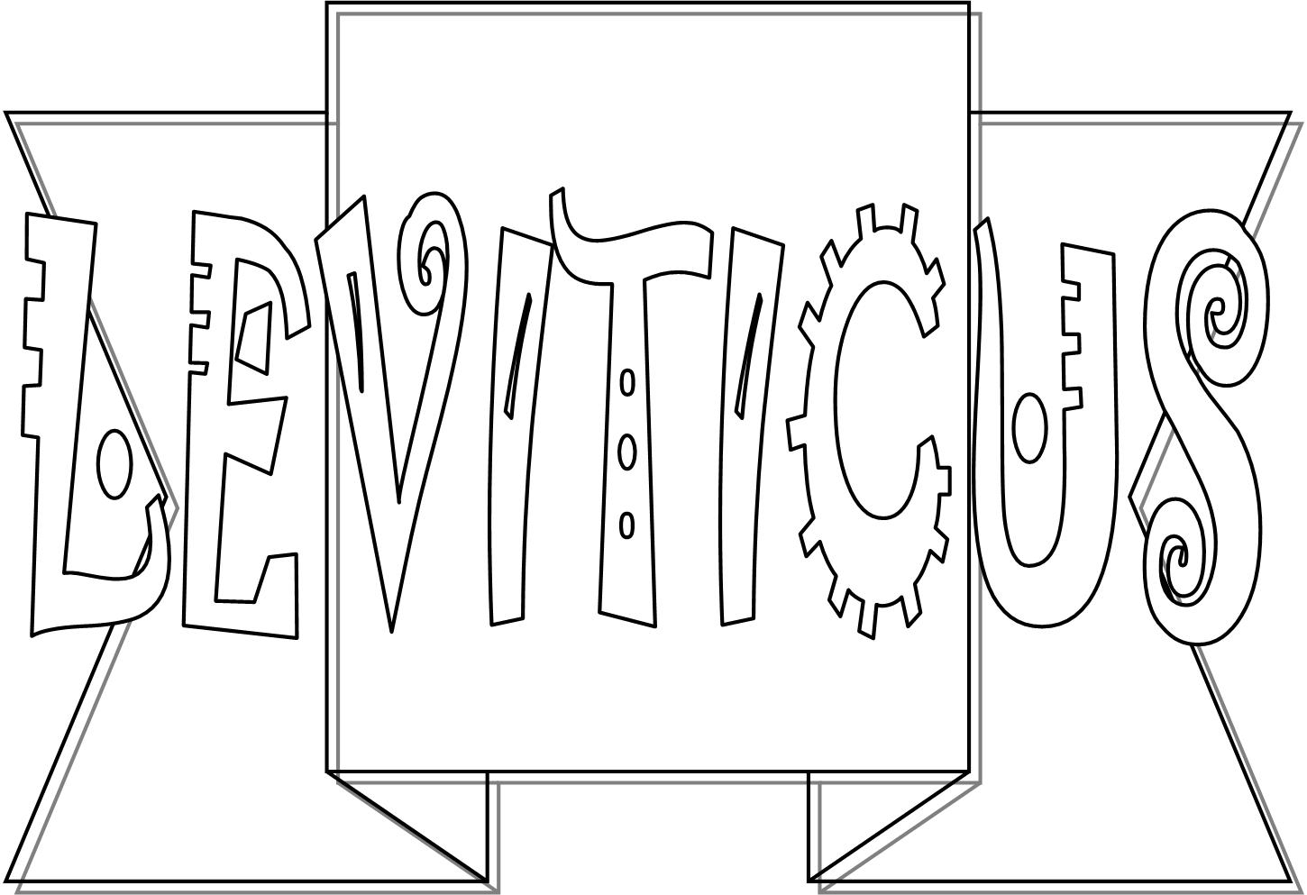 books of the bible coloring pages - leviticus