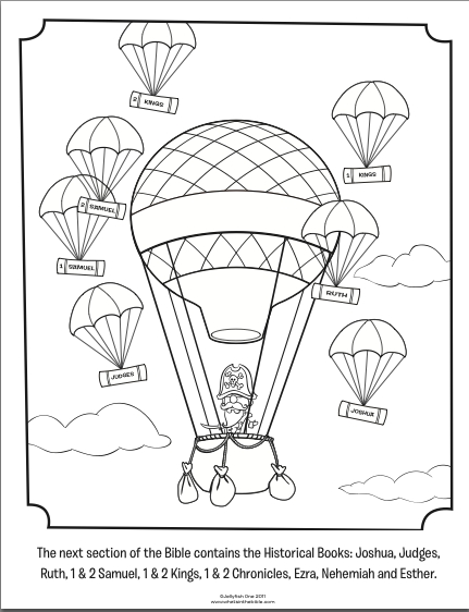 Books Of the Bible Coloring Pages - Historical Books Bible Coloring Pages