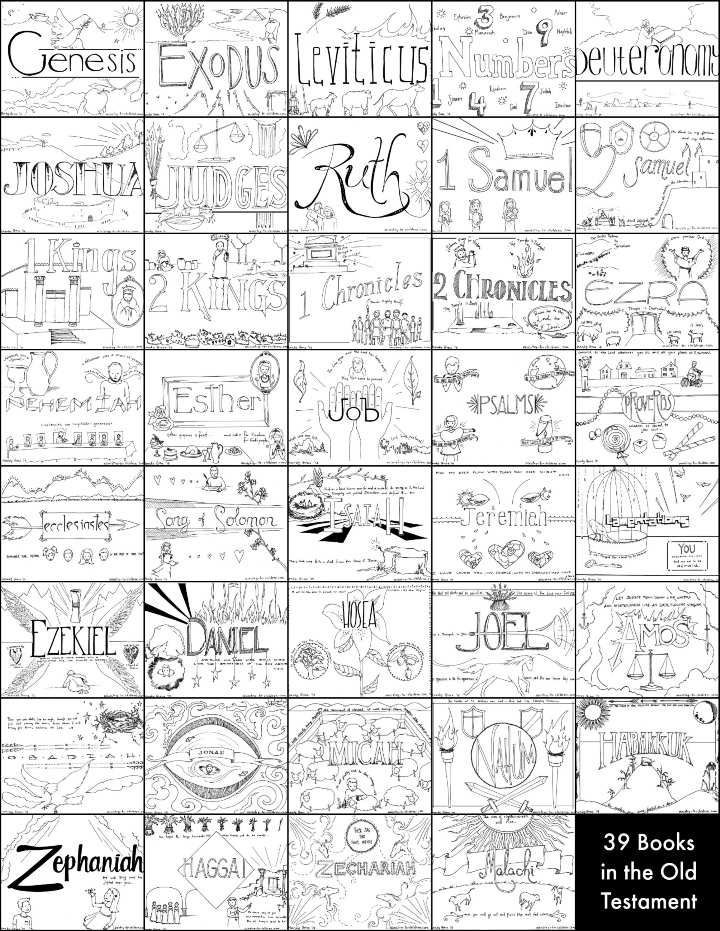 books of the bible coloring pages -