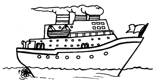 boot coloring page - dibujos barcos