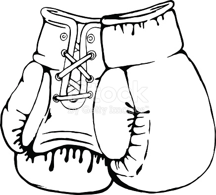 bow coloring pages - hand drawn boxing gloves isolated on white background gm