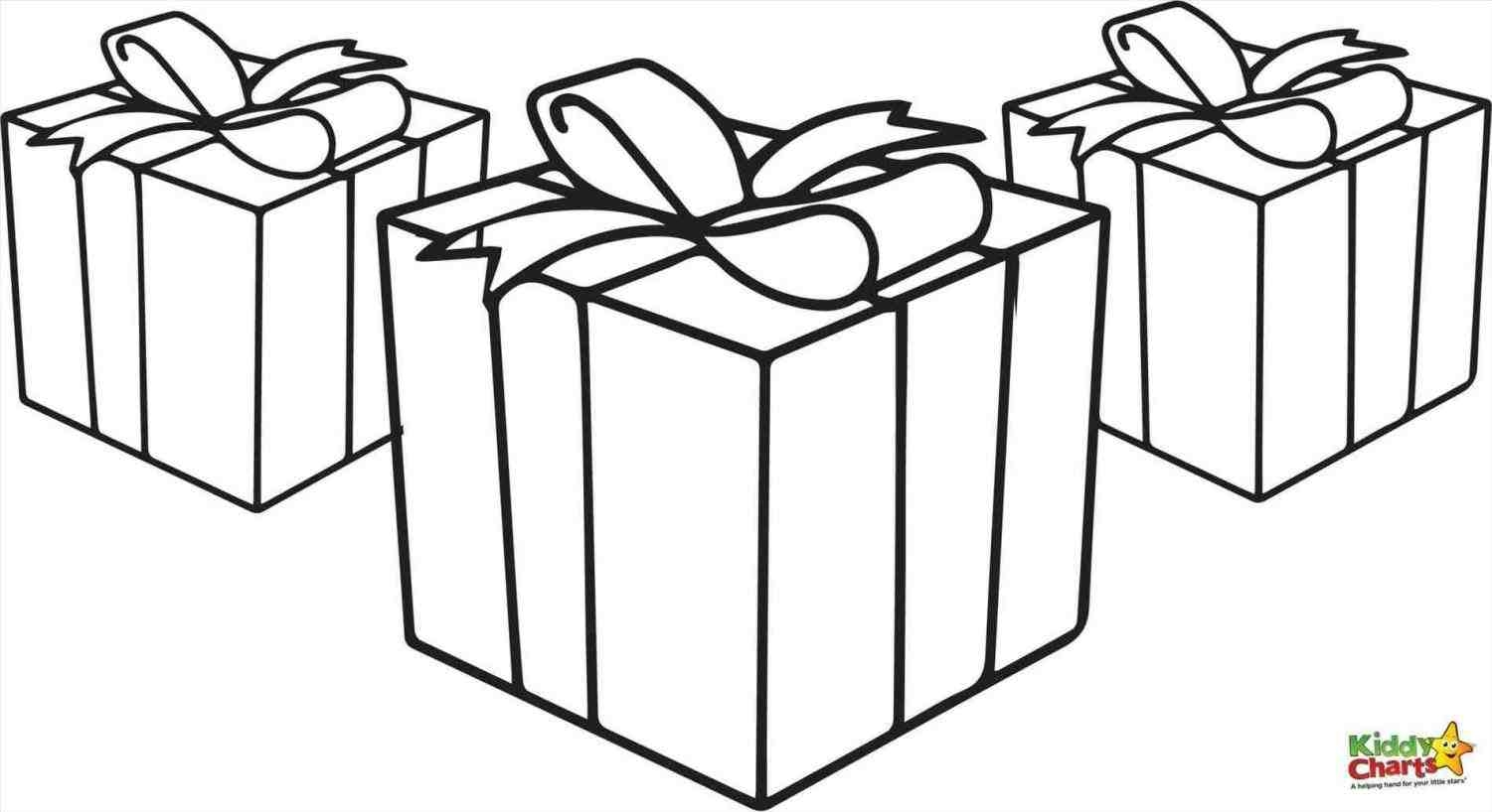 bow coloring pages - draw christmas presents 2