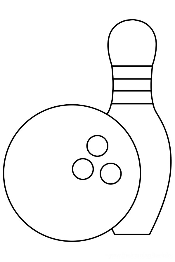 bowling coloring pages - p=6652