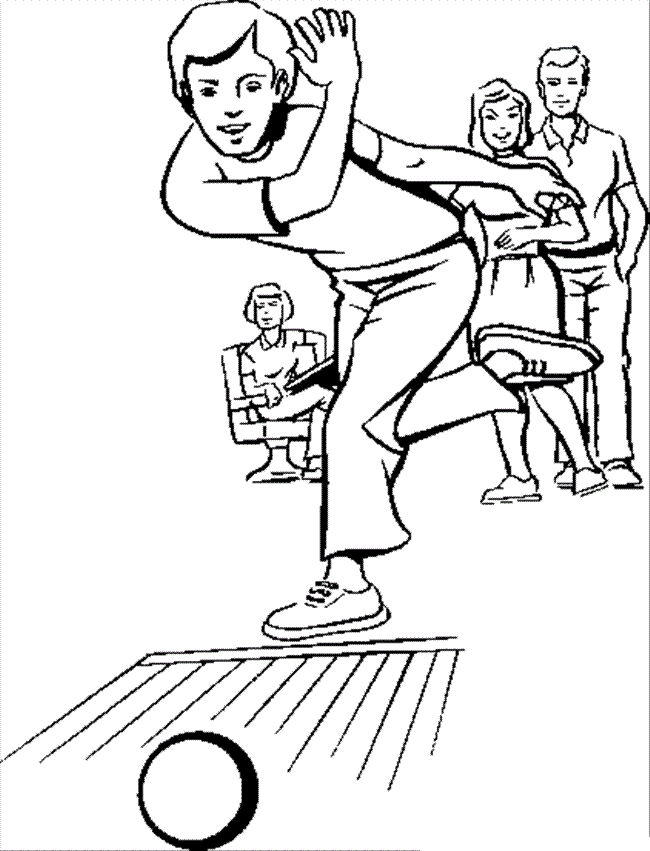 Bowling Coloring Pages - Bowling Coloring Pages for Childrens Printable for Free