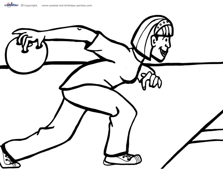 bowling coloring pages - free bowling coloring page