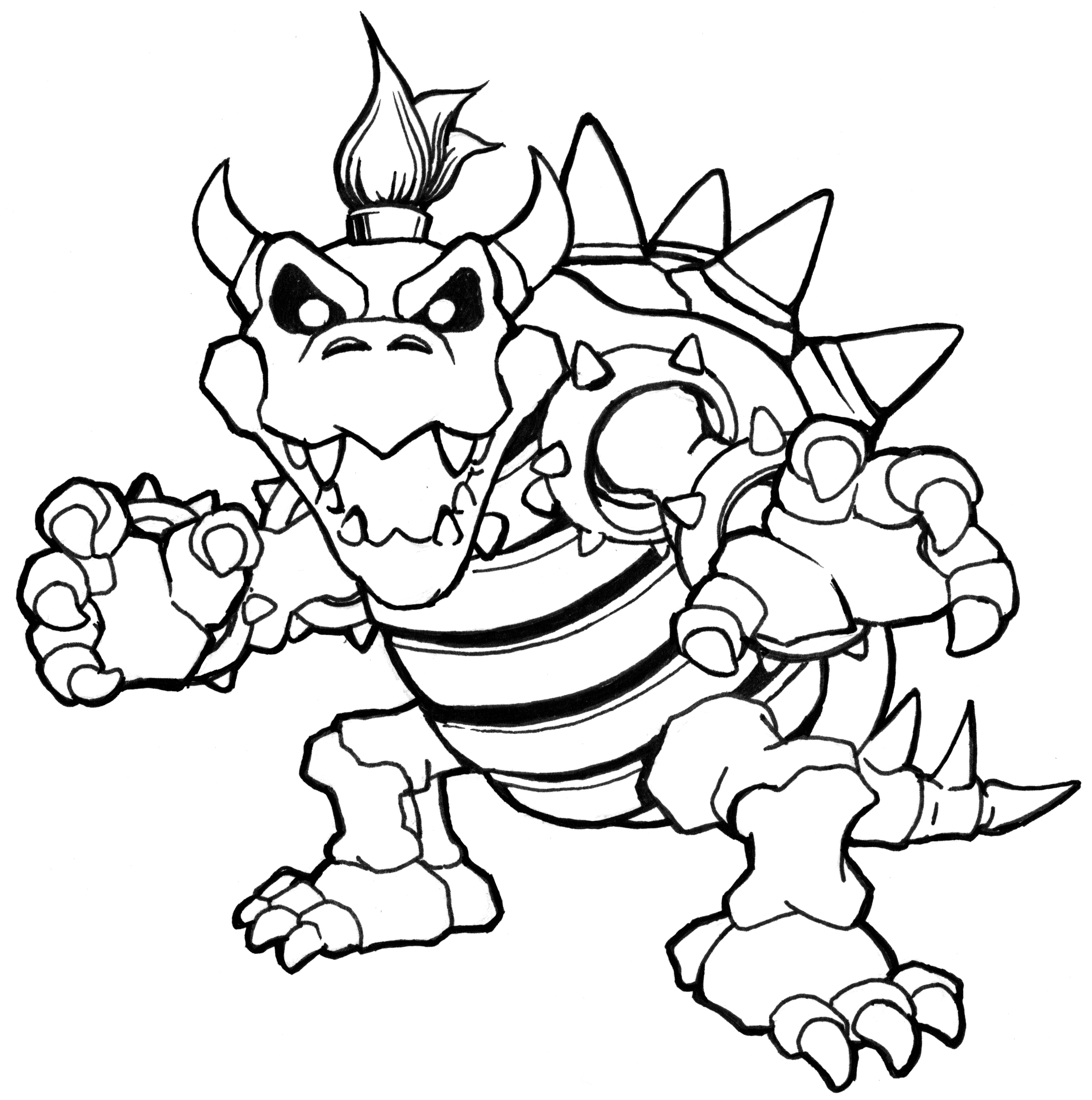 bowser coloring page -