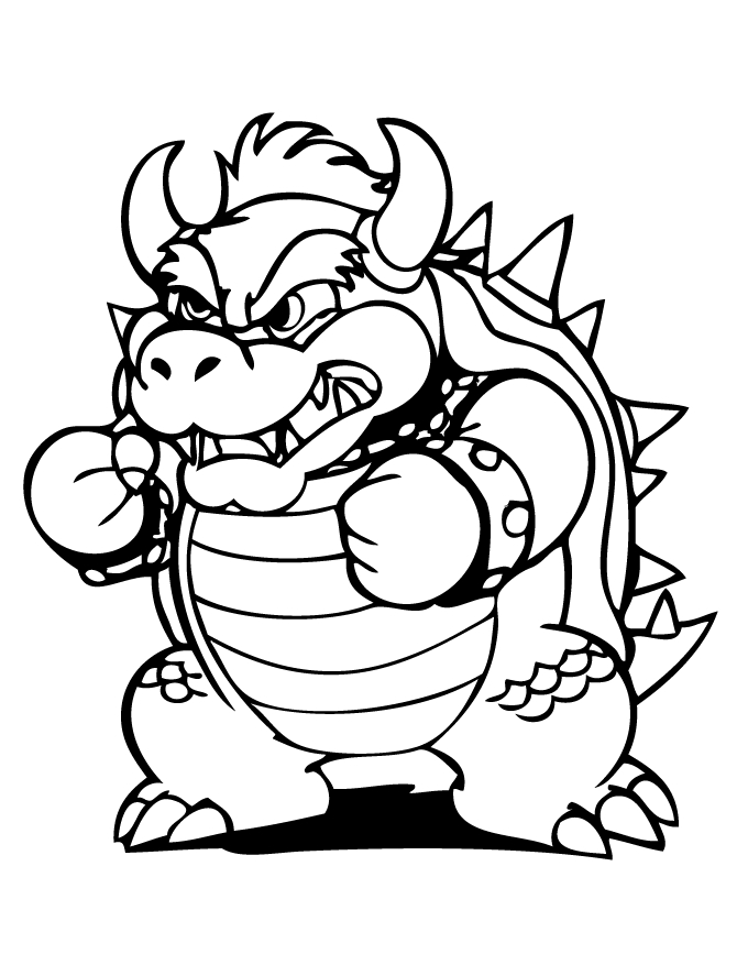 bowser coloring page - bowser coloring pages to print