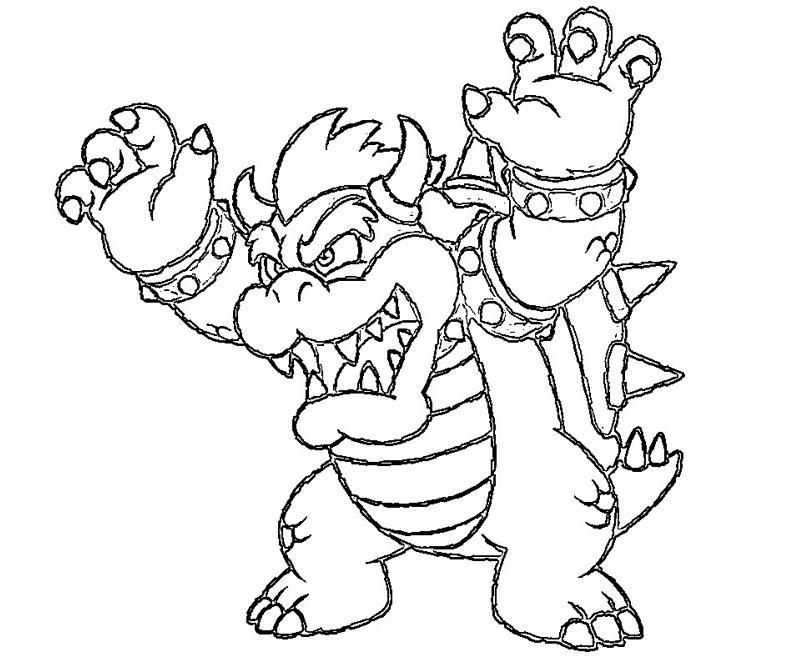 bowser coloring page - bowser jr coloring pages print