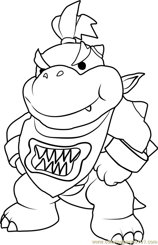 Bowser Jr Coloring Pages - Bowser Jr Coloring Page Free Super Mario Coloring Pages