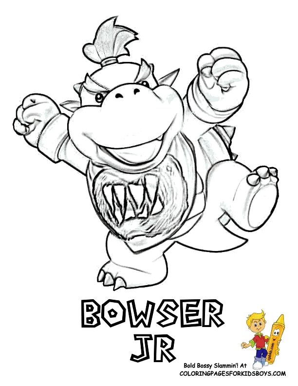 25 Bowser Jr Coloring Pages Pictures | FREE COLORING PAGES - Part 3