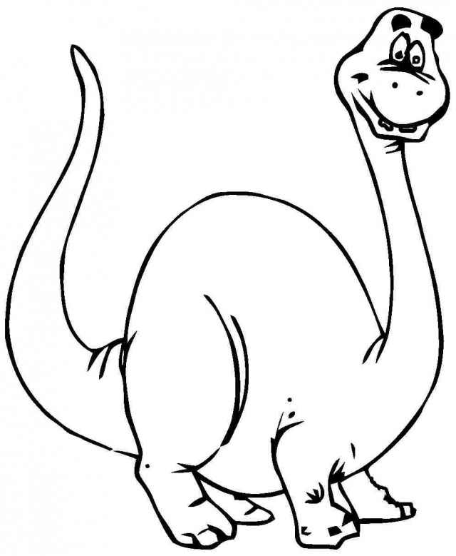 brachiosaurus coloring page - cartoon dinosaur coloring pages