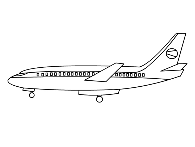brain coloring page - airplane