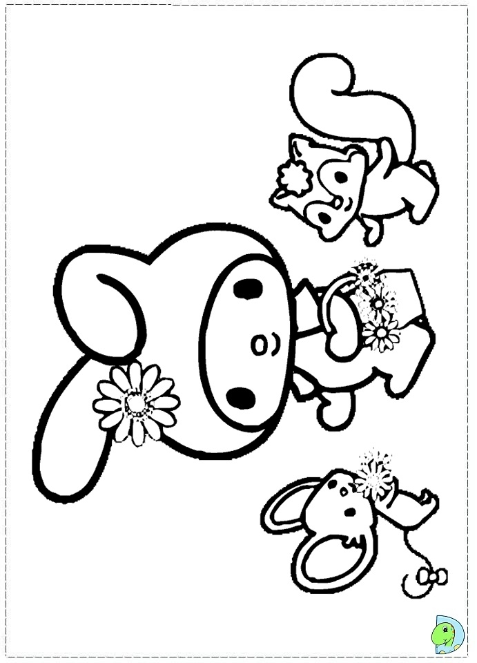 brain coloring page - my melody coloring pages