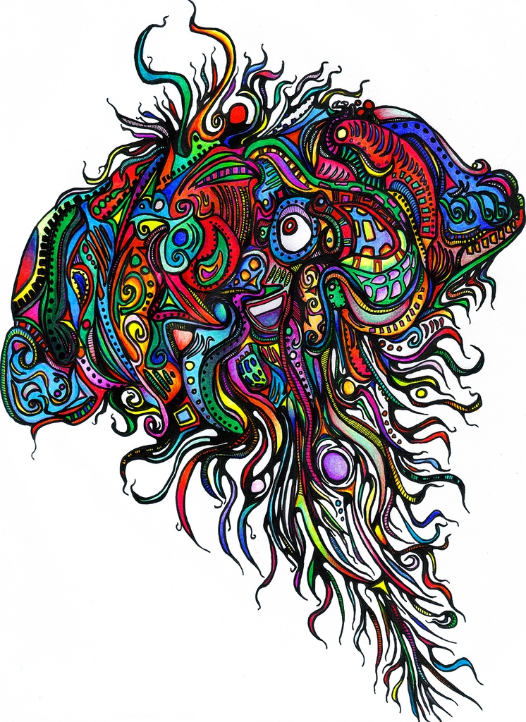brain coloring page -