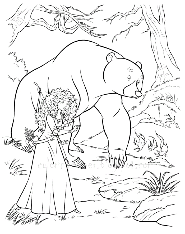 brave coloring pages - brave coloring pages