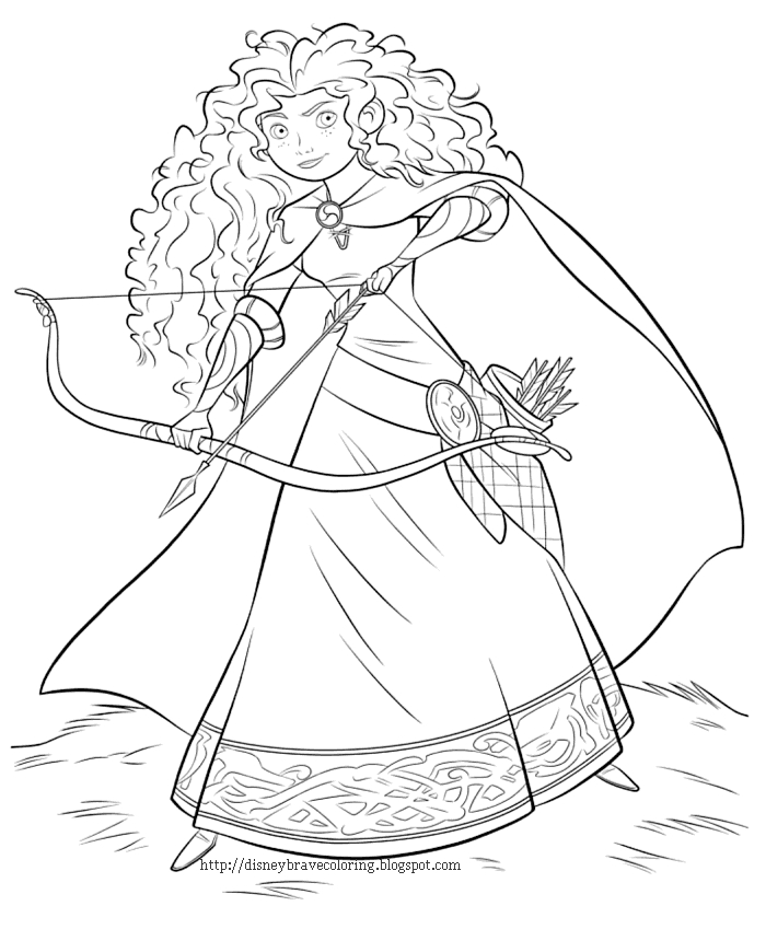 brave coloring pages - disneybravecoloring