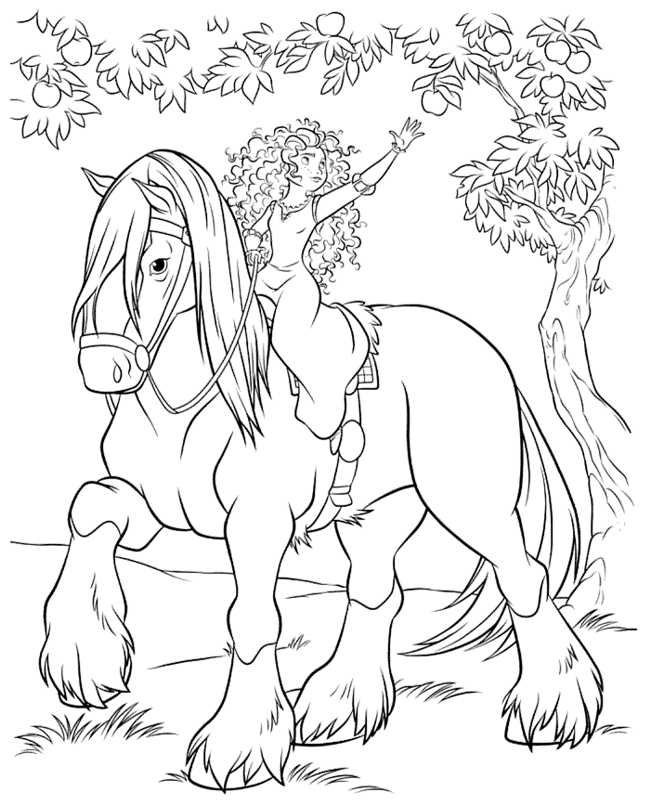 brave coloring pages - cartoon brave