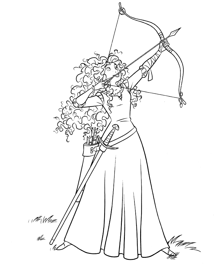 brave coloring pages - disney brave colouring pages