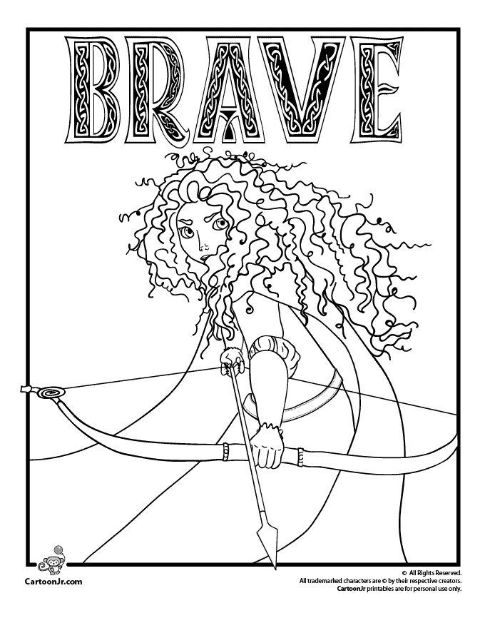brave coloring pages -