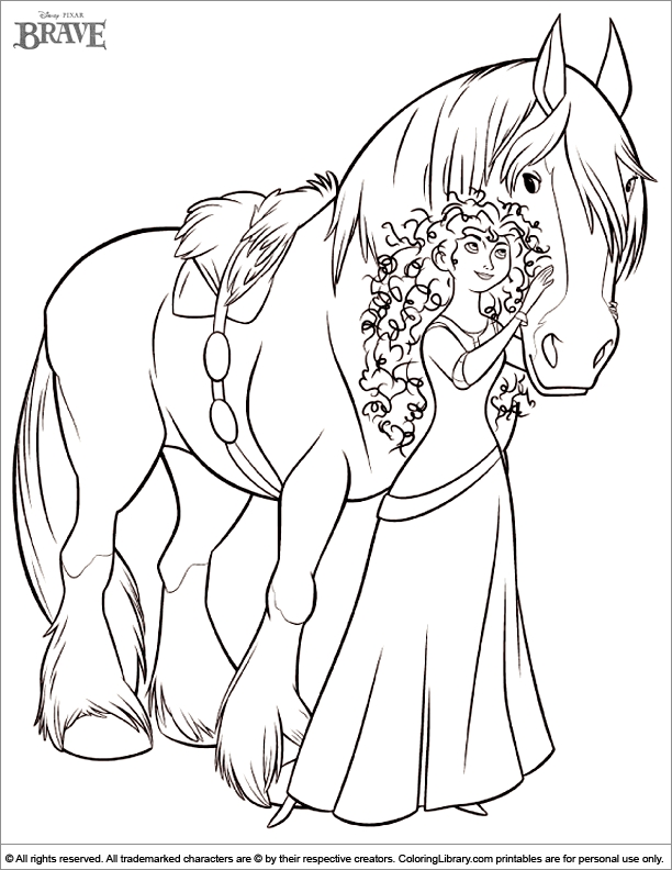 brave coloring pages - q=brave merida