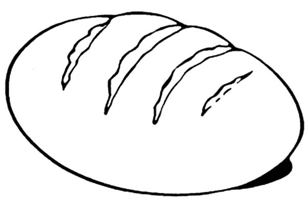 Bread Coloring Page - Coloring Bread and Wine Coloring Pages