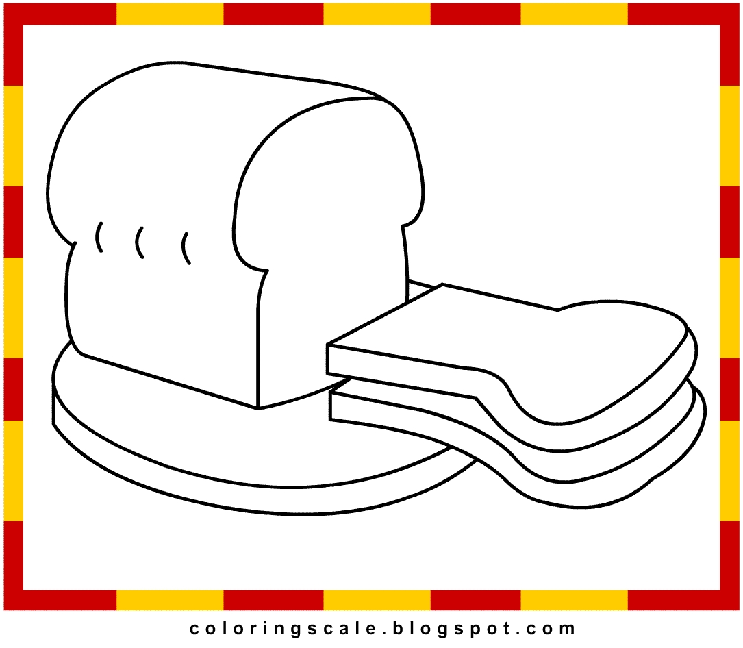 bread coloring page - bread coloring pages