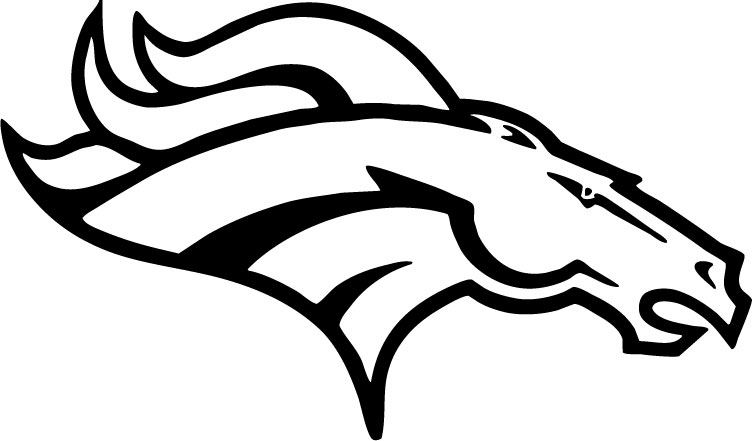 broncos coloring pages - bronco sketch templates