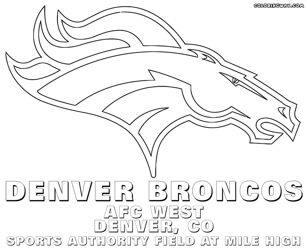 28 Broncos Coloring Pages Compilation | FREE COLORING PAGES - Part 3
