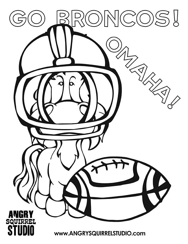 broncos coloring pages - free coloring pages broncos football