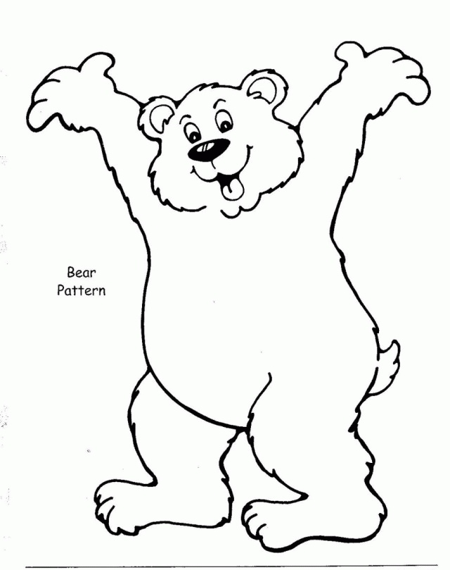 brown bear coloring pages -