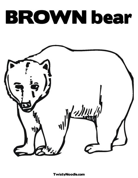 brown bear coloring pages - index