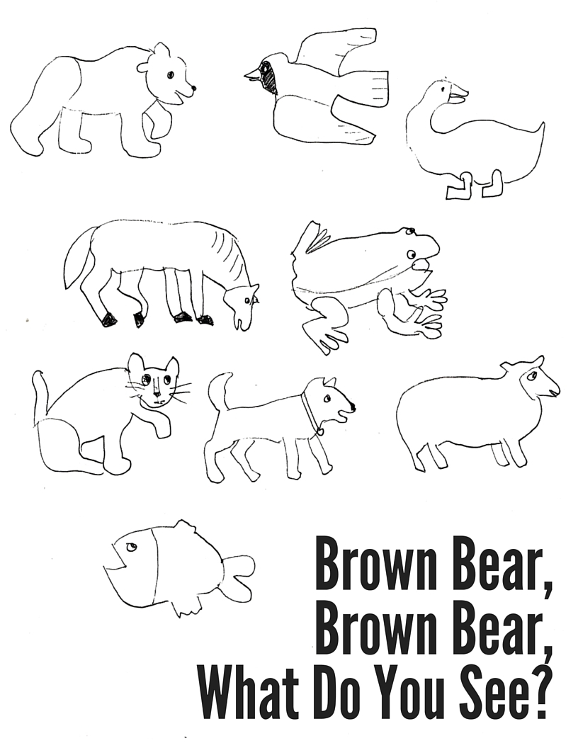 brown bear coloring pages - eric carle brown bear brown bear coloring pages