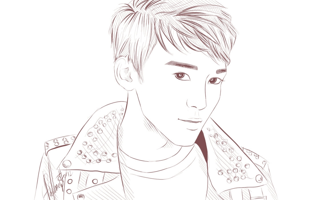bts coloring pages - Chen EXO M 1
