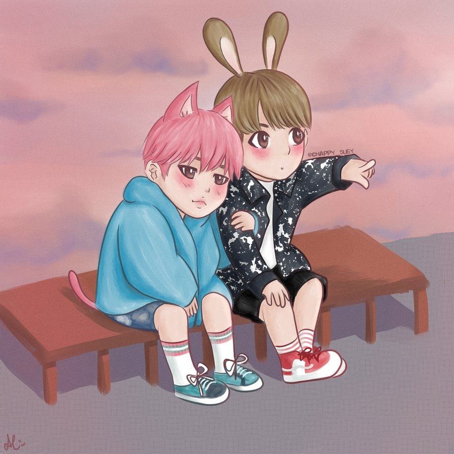 bts coloring pages - Chibi Jikook