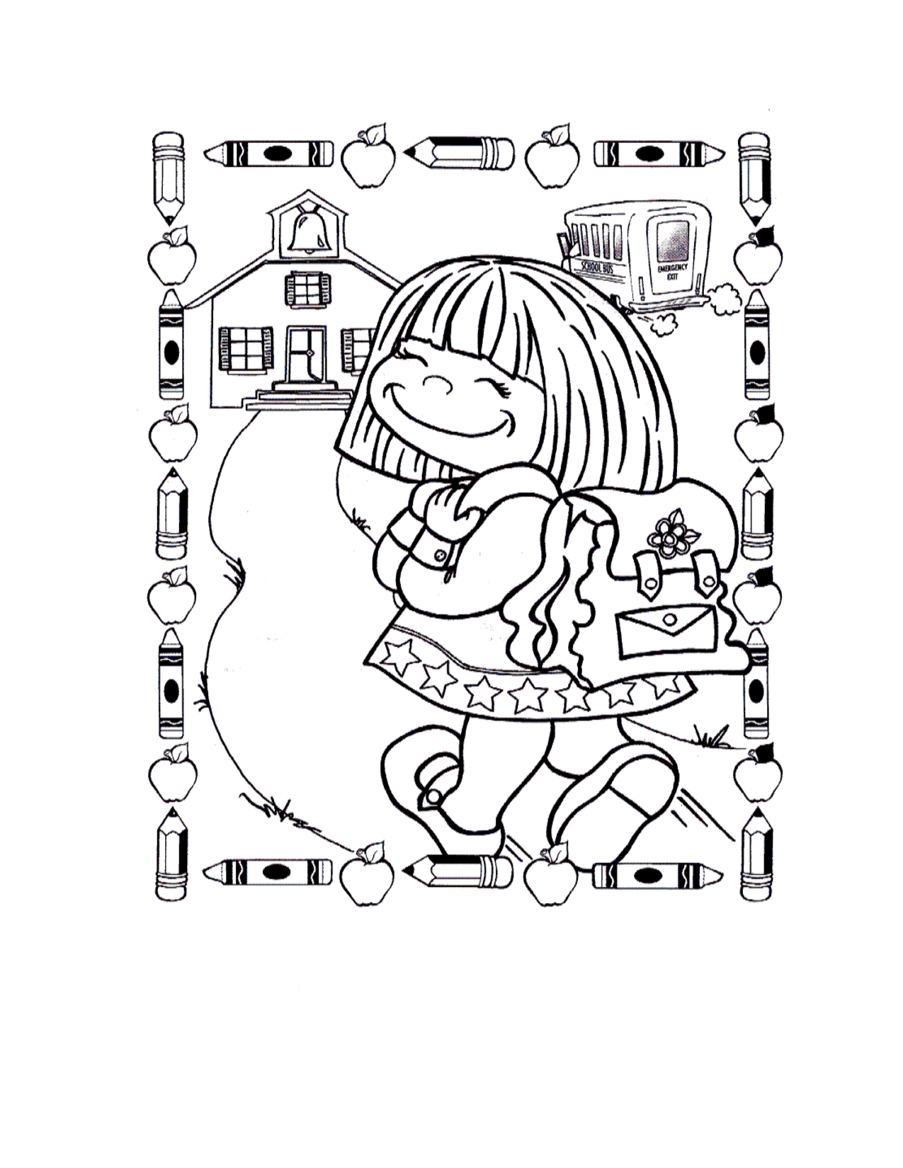 bts coloring pages - first day of school coloring pages