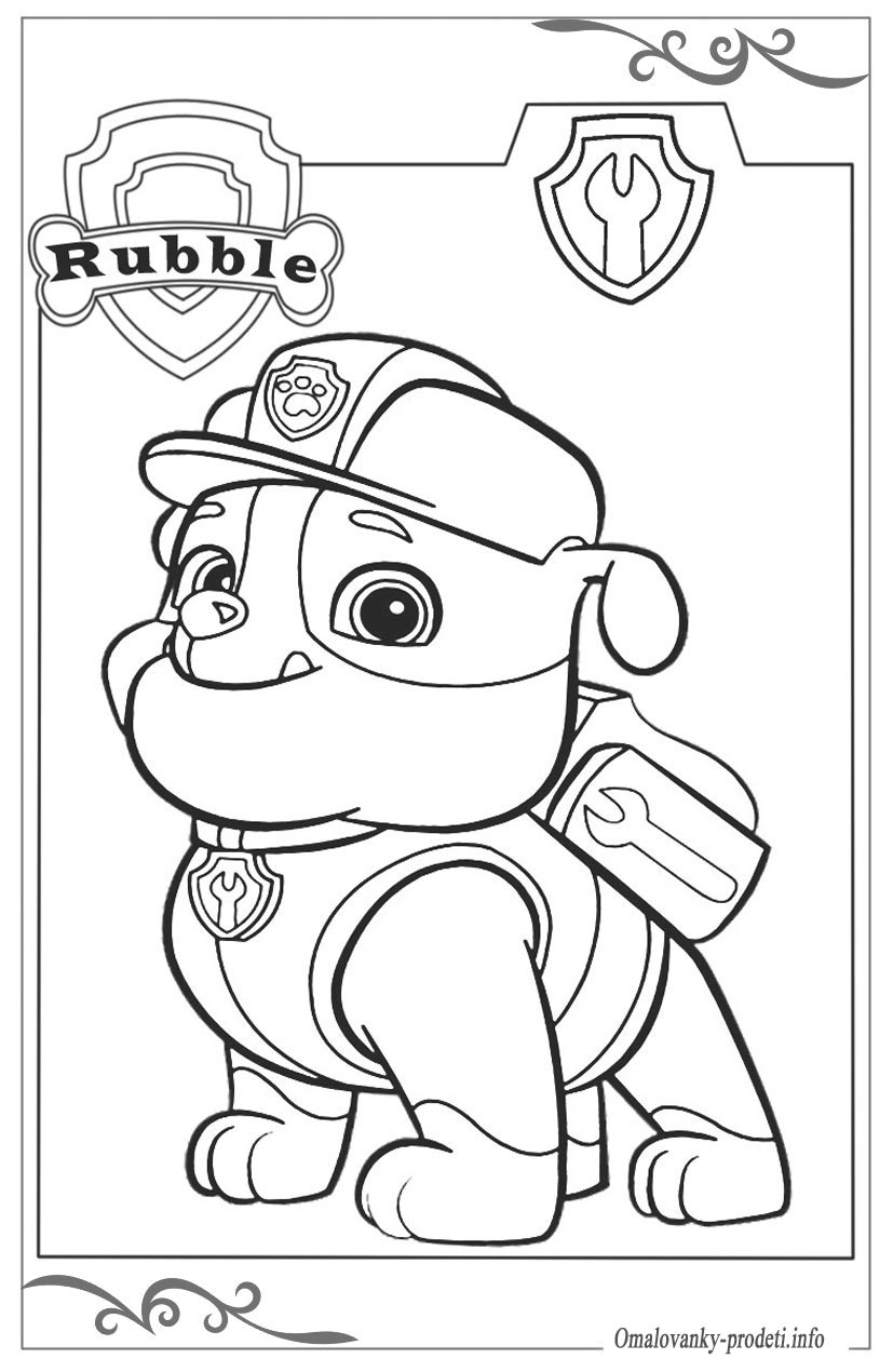 bubble guppies coloring pages - PAW Patrol om 5