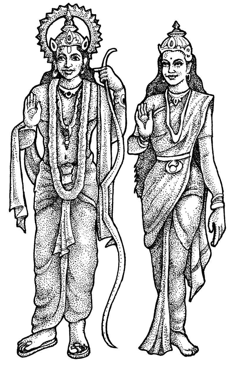 buddha coloring pages - lord rama