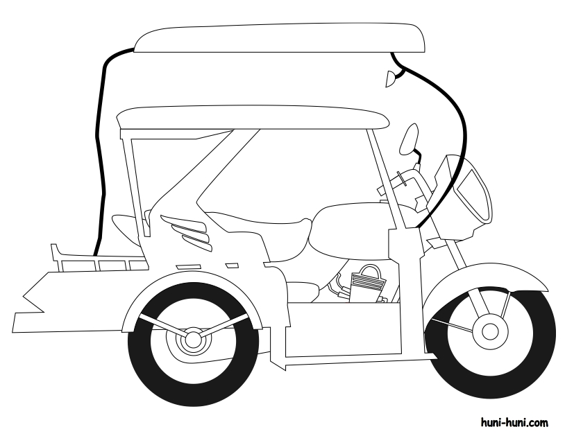 buffalo coloring page - tricycle