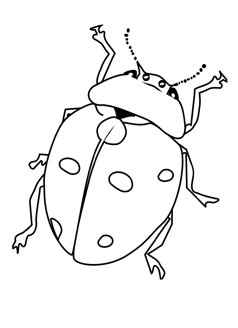 Bug Coloring Pages - Free Printable Bug Coloring Pages for Kids
