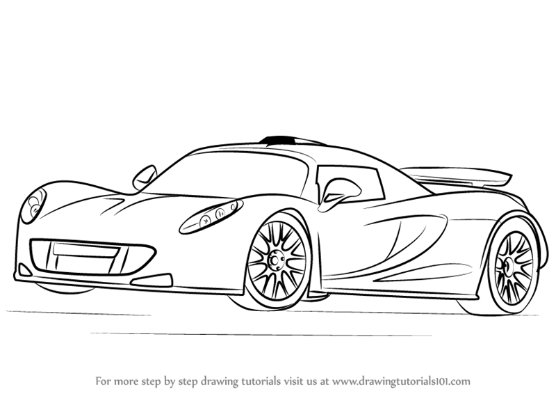 bugatti coloring pages - how to draw venom gt