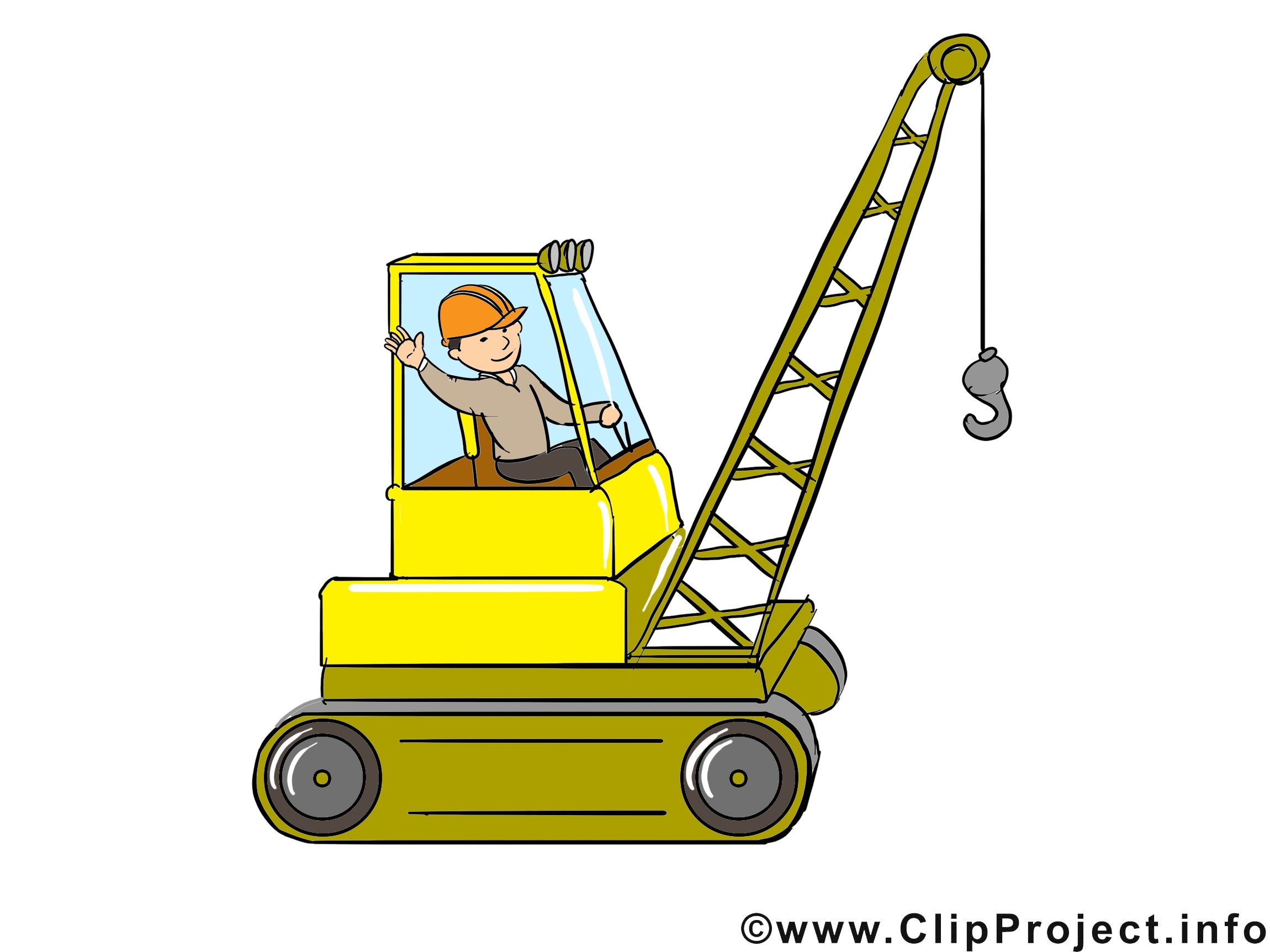 Building Coloring Pages - Clipart Bagger Baustelle Baumeister