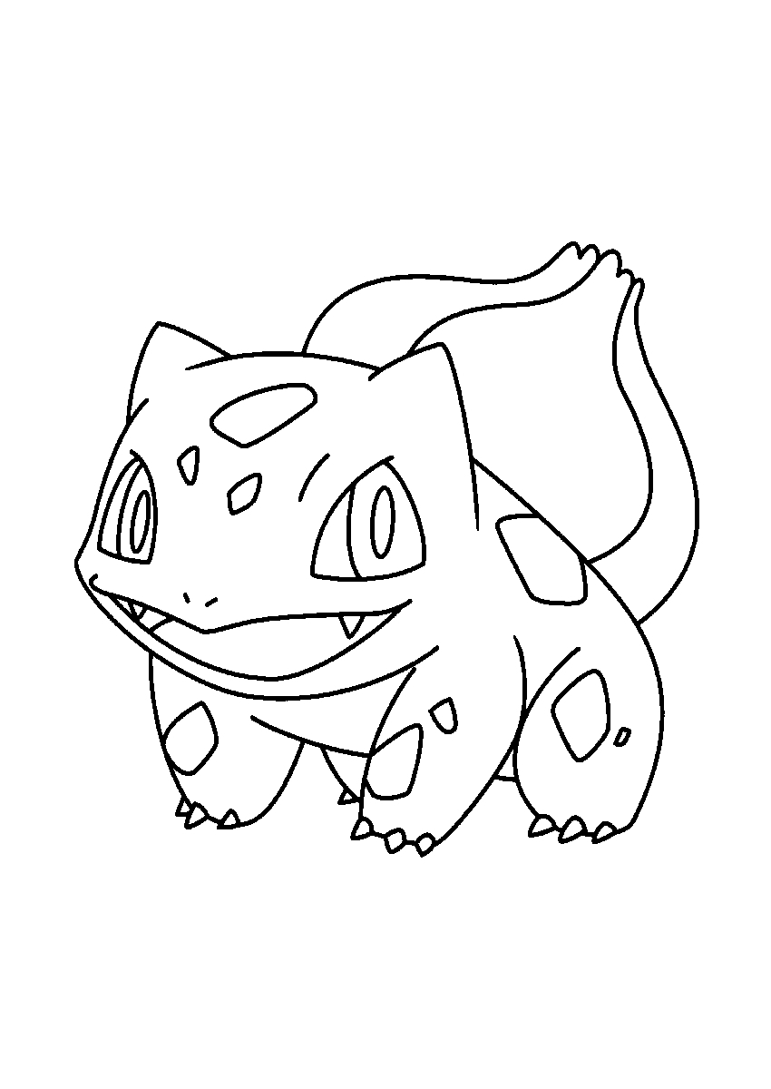 bulbasaur coloring page - bulbasaur coloring pages