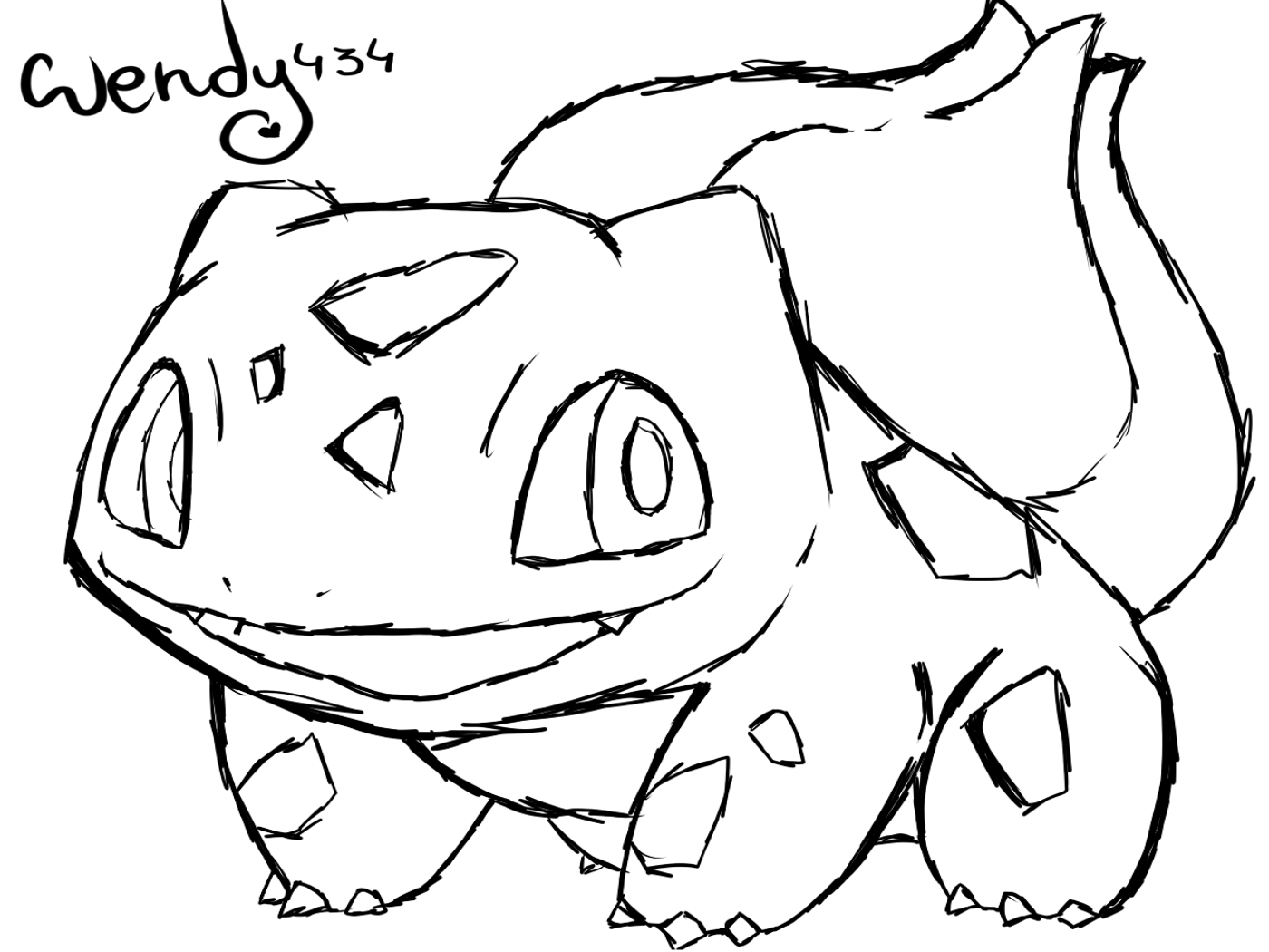 bulbasaur coloring page - bulbasaur sketch templates