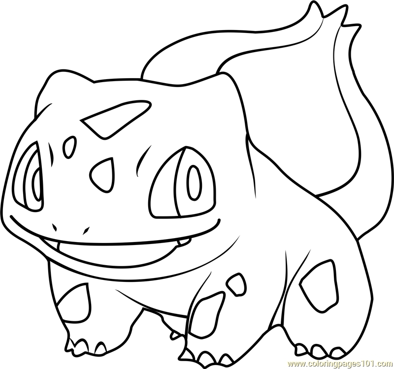 bulbasaur coloring page - bulbasaur pokemon coloring page