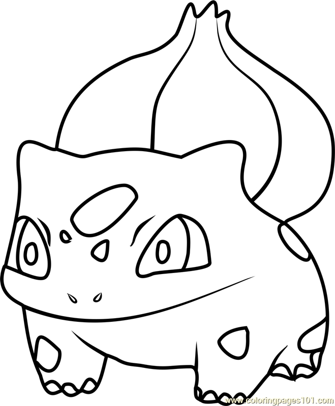 bulbasaur coloring page - bulbasaur pokemon go coloring page