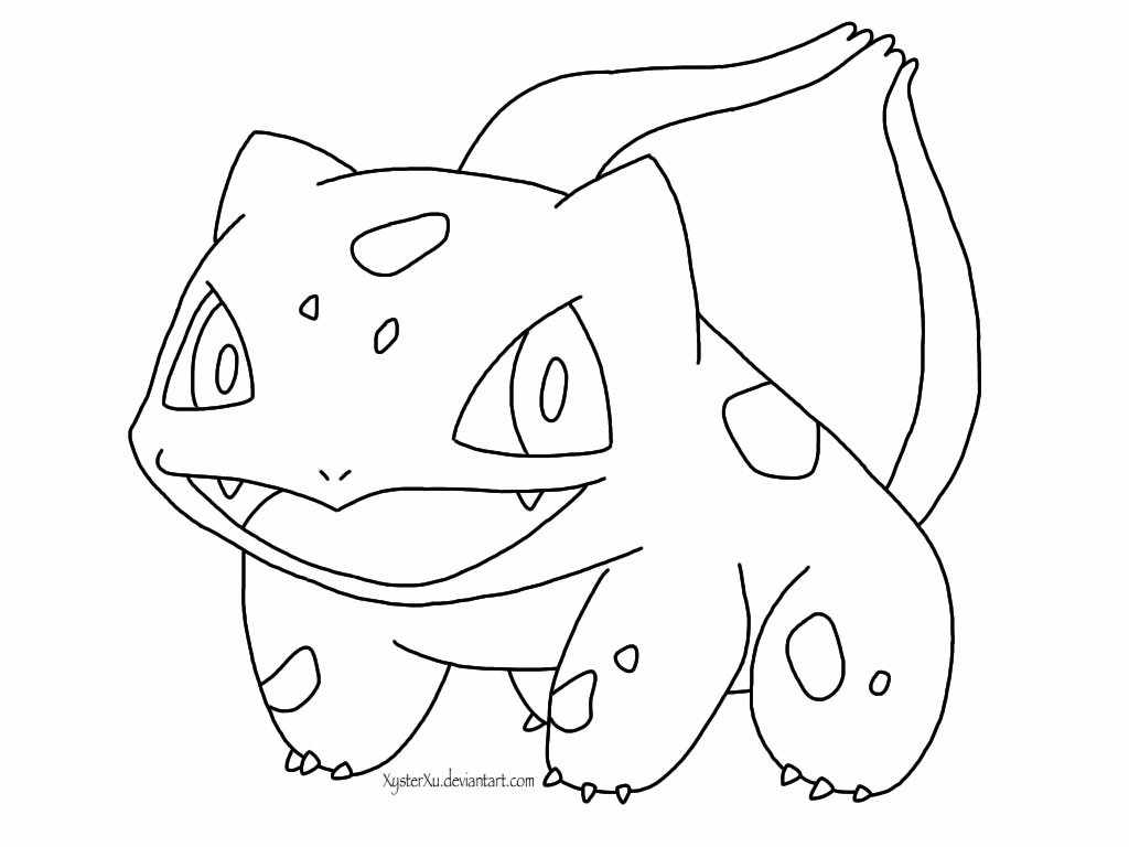 bulbasaur coloring page - pokemon bulbasaur coloring pages images