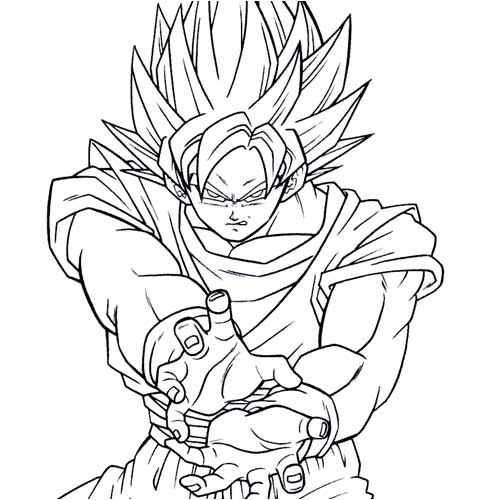 bulldog coloring pages - goku coloring pages 9