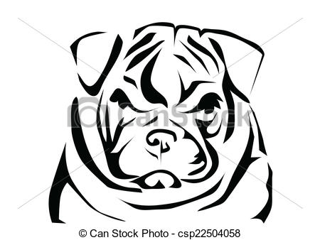 bulldog coloring pages - engelse bulldog